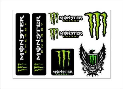 Cartela Monster Energy Army + Frete Grátis