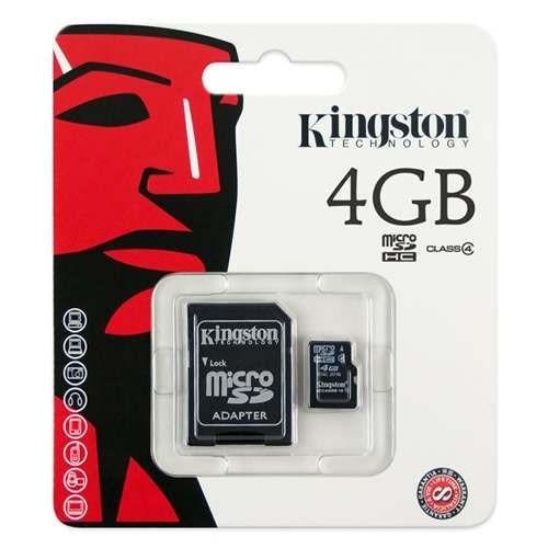 Cartão De Memória Micro Sd Kingston 4gb