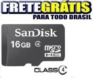 Cartão Memória Micro Sd 16gb Class P/celular Nokia Samsung