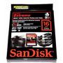 Cartão Sdxc 16gb Sandisk Extreme Sd Original Classe 10 45mbs