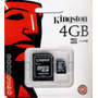 Cartão De Memória Kingston 4gb Micro Sd 2x1