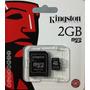 Cartão De Memória Kingston 2gb Micro Sd 2x1