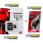 Micro Sd 32gb Kingston + Adaptador Usb ** Frete Grátis**