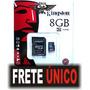 Cartão Memória Micro Sd 8 Gb Lacrado Original.produto Novo