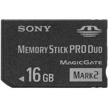 Cartão De Memória Sony Memory Stick Pro Duo 16gb Mark 2