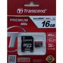 Micro Sd 16gb Micro Sdhc Class10 Uhs-1 Transcend 45mb