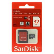 Cartão Micro Sd Sandisk 32gb Adaptador Sd + Adapt Pen Drive