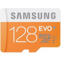 Cartão Micro Sd Sdxc Samsung Evo 128gb Class 10 48mb/s Uhs-1