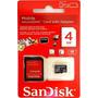 Cartão De Memória Micro 4gb Sandisk+adaptador Lacrado