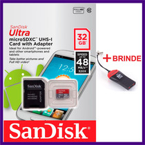 Cartao Memoria 32gb Micro Sd Classe 10 30mb/s Lacrado+leitor