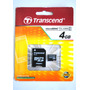 Transcend Cartao Memoria Micro Sd 4gb + Adaptador Original