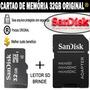 Cartão Memória Micro Sd 32gb Classe 4 Celular Tablet Camera