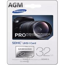 Cartão Sd Samsung Pro Sdcx 90mb/s 32gb Câmera Nikon Coolpix