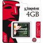 Cartão De Memória Compact Flash 4gb Kingston Cf/4gb Lacrado