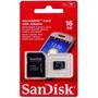 Cartão De Memória Micro Sd Sandisk 16 Gb