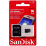 Cartão De Memória 16gb Micro Sd Sandisk C/ Adaptador