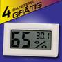 Mini Termômetro Lcd Umidade Ar Temperatura 4 Baterias Grátis