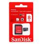 Cartão Micro 8gb Sd Sandisk