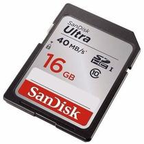 Cartão De Memória Sd Sdhc 16gb Classe 10 Sandisk Ultra