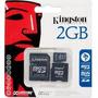 Kit 10 X Cartão De Memória 2gb Micro Sd + Adaptador Kingston