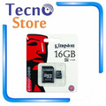 Cartão De Memória Micro Sd 16gb Kingston Com Adaptador Sd