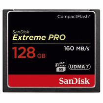 Cartão Compact Flash Sandisk Extreme Pro 128gb 160mb/s 4k