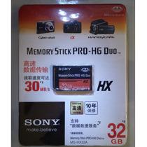 Cartão Sony Memoriy Stick Pro-hg Duo Hx 32gb. Na Embalagem