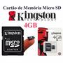 Cartão Memória Micro Sd 4gb Lacrado Original Com Adaptador