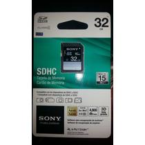 Cartão Memória Sony Sd Sdhc 32gb Full Hd 10, 3d No Blister
