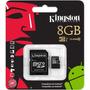 Cartão De Memória Micro Sd Kingston 8gb + 1 Adaptador