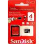 Cartão De Memória 04gb Micro Sd + Adaptador Sd