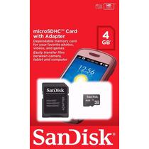 Cartão De Memória Micro Sd 4 Gb Sandisk Lacrado Orig