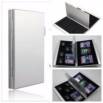 Case Micro E Sd Aluminio Porta Cartão De Memoria Sdhc Estojo
