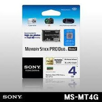 Cartão Memory Stick Pro Duo Sony 4gb Ms-mt4g/2nqt