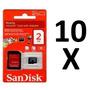 10 Cartão De Memória Micro Sd Sandisk 2gb Original Lacrado