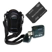 Cartão Memória Sony Pro Duo 8gb+leitor+bolsa P/dsc-t100 T300