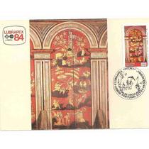 Ml-6568 Max. Postal Lubrapex Pinturas Chinesices 1984