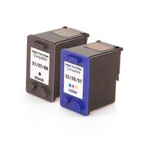 Kit Cartuchos Tinta Hp 21 27 56/22 28 57 Compatível | D1400