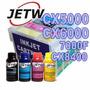 Kit Cartucho Recarregável Cx5000 Cx6000 Cx7400 Nx415 + Tinta