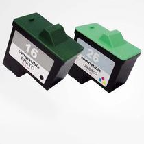 Kit Cartucho Preto 16 E Colorido 26 Para Lexmark X1185 X1195