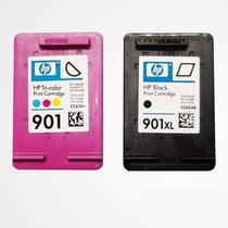 Cartuchos Hp 901 Xl Preto 901 Color Original + Tintas Brinde