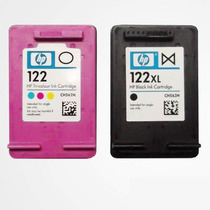 Kit Cartuchos Hp 122 Preto E 122 Color + Kit Recarga Brinde