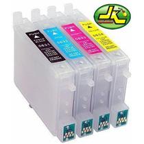 Kit 4 Cartucho Recarregáveis T23 T24 Tx105 Tx115 + Chip Full
