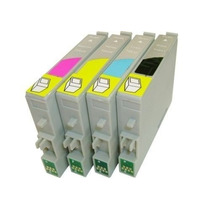 Kit 04 Cartuchos Compatíveis Epson To63. Para C67 C87 Cx3700