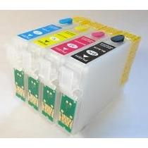 Cartucho Recarregável Epson T25 Tx123 Tx125 Tx135 Chip Full