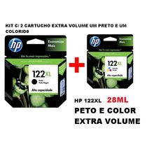 Kit 2 Cartuchos Hp 122 (1preto + 1color) 14 Vezes Mais Tinta