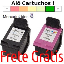 2 Cartucho Hp 901 4540 J4550 J4580 J4640 J4660 J4500 J4680