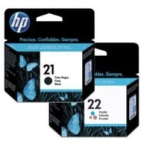 Kit Cartucho De Tinta Hp 21 Preto E 22 Color Original
