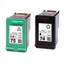 Cartuchos Hp 74 Preto E 75 Color Alto Volume