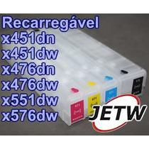 Cartucho Recarregável Pro X451 X476 X576 X551d Hp 970 S/chip